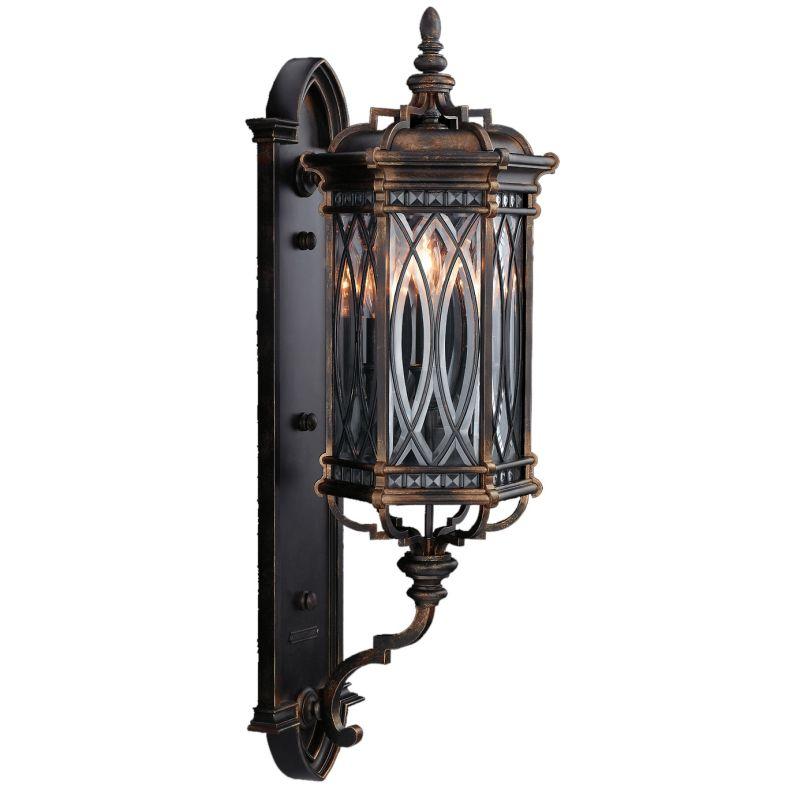 Fine Art Lamps 612281ST Warwickshire Three-Light Outdoor Wall Sconce