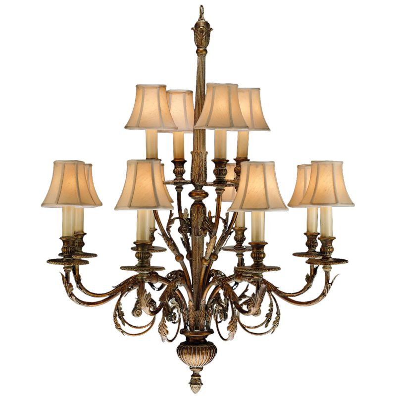 Fine Art Lamps 710340ST Verona Twelve-Light Two-Tier Chandelier with