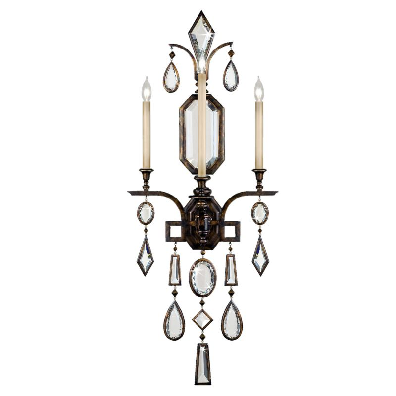 Fine Art Lamps 710450-3ST Encased Gems Three-Light Wall Sconce with