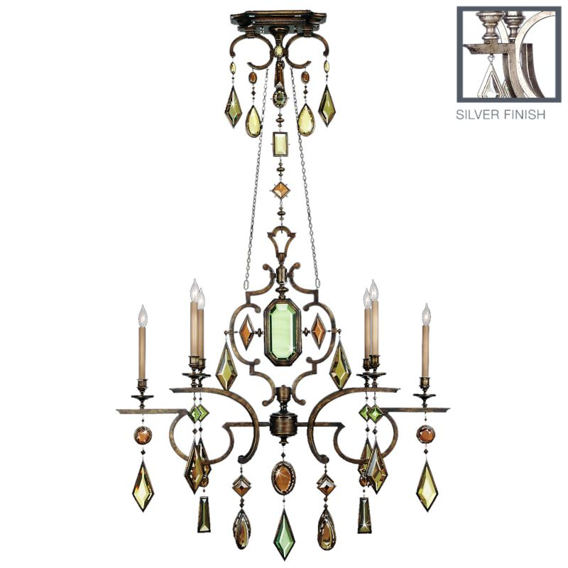 Fine Art Lamps 725940-1ST Encased Gems Six-Light Single-Tier Sale $9723.00 ITEM: bci2259755 ID#:725940-1ST :