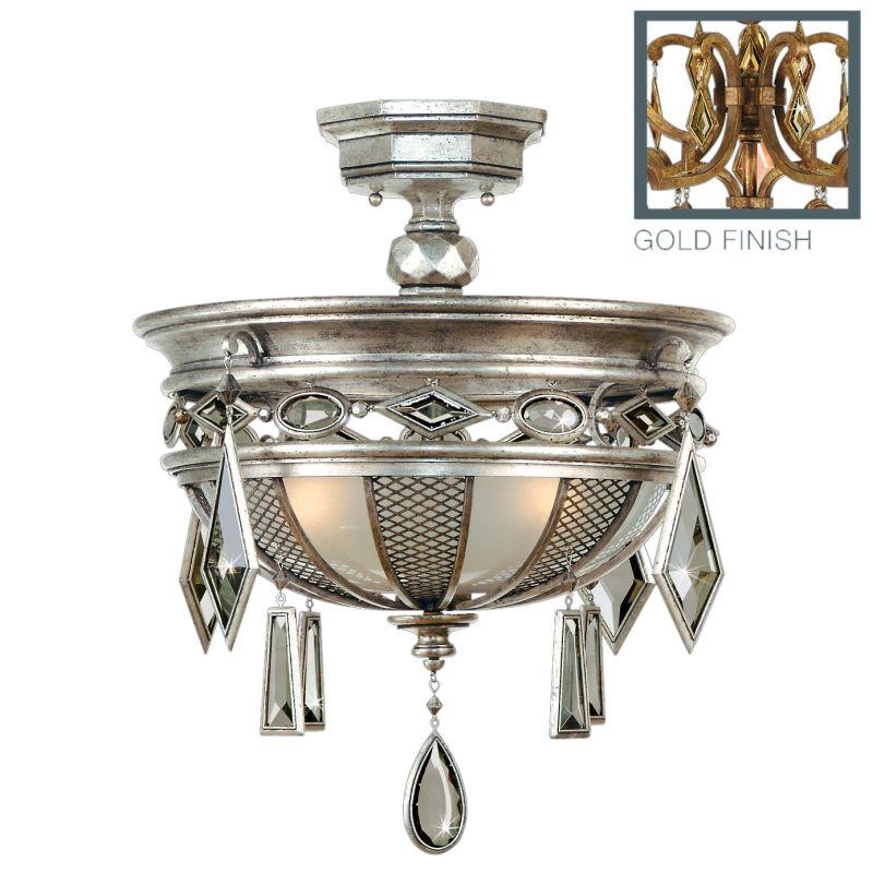 """Fine Art Lamps 727240-1ST Encased Gems 21"""" Diameter Three-Light"""