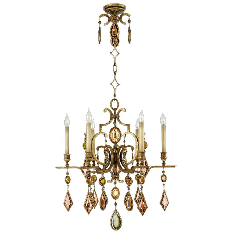 Fine Art Lamps 729640-3ST Encased Gems Six-Light Single-Tier