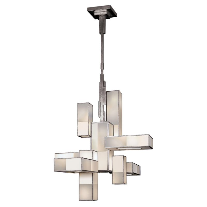 Fine Art Lamps 732040-2GU Perspectives Silver Twelve-Light Single Tier