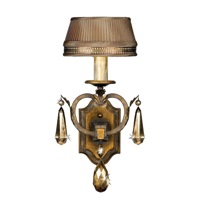 Fine Art Lamps 755550ST Golden Aura Single-Light Wall Sconce with