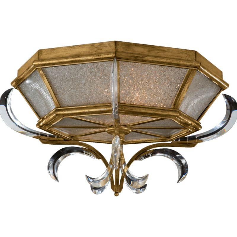 """Fine Art Lamps 767640ST Beveled Arcs Gold 26"""" Diameter Two-Light Flush"""