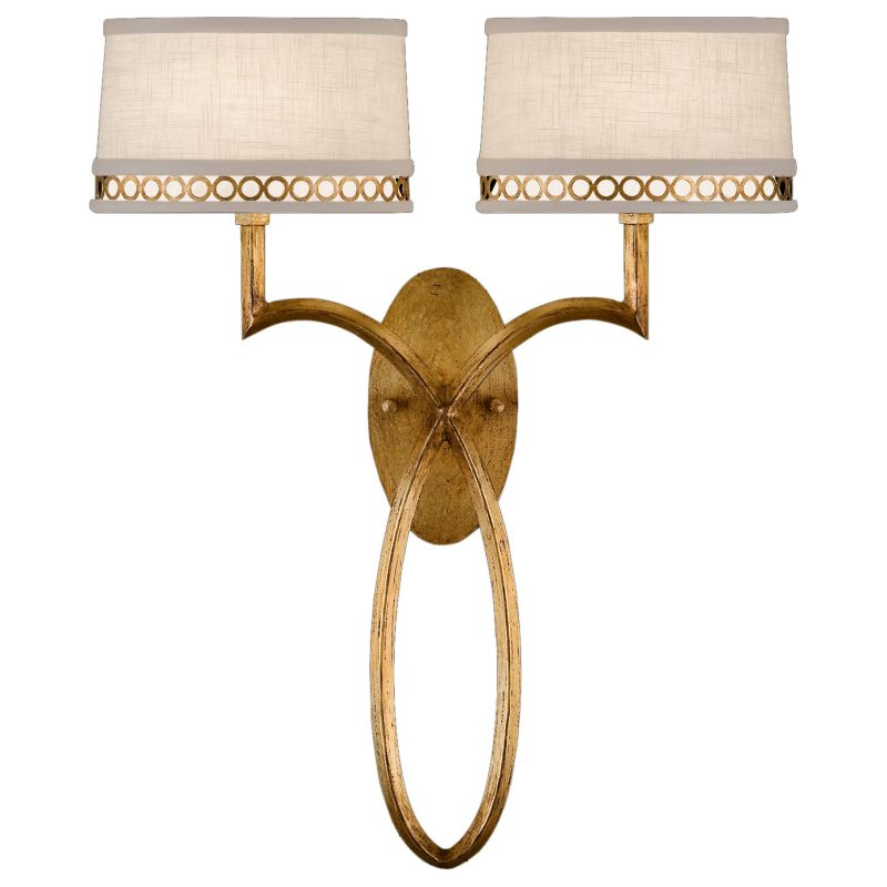 Fine Art Lamps 784750-2ST Allegretto Gold Two-Light Wall Sconce with