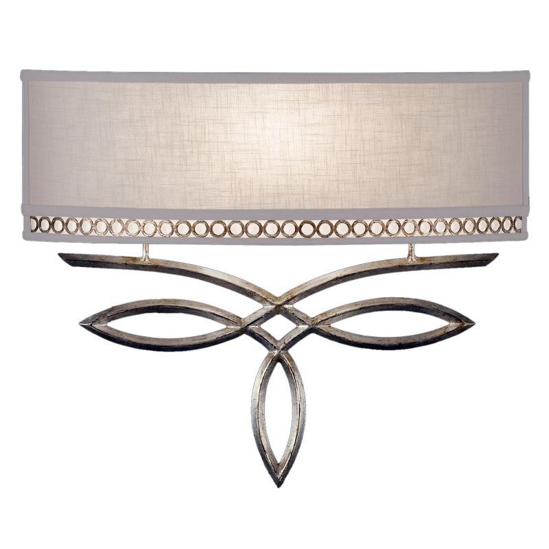Fine Art Lamps 785650ST Allegretto Silver Single-Light Wall Sconce