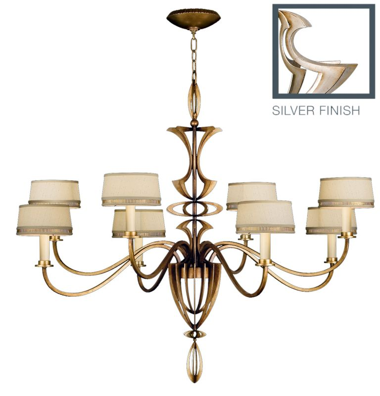 Fine Art Lamps 786640ST Staccato Silver Eight-Light Single-Tier Sale $6783.00 ITEM: bci2258602 ID#:786640ST :
