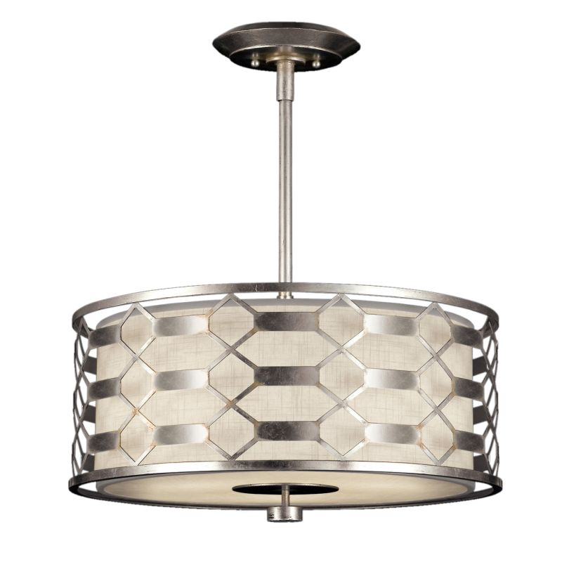 "Fine Art Lamps 787540GU Allegretto Silver 24"" Diameter Three-Light"