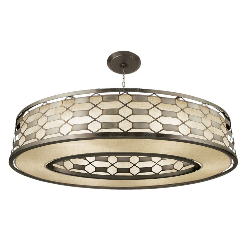 "Fine Art Lamps 787740GU Allegretto Silver 57"" Diameter Six-Light Drum"