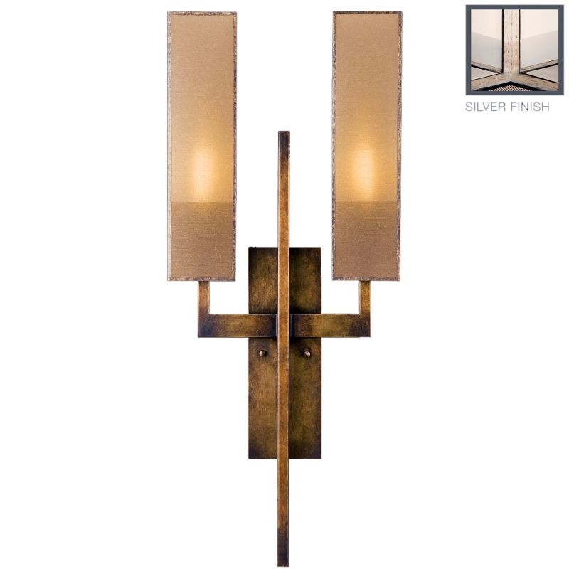 Fine Art Lamps 789950-2GU Perspectives Silver Two-Light Wall Sconce Sale $2089.50 ITEM: bci2258639 ID#:789950-2GU :
