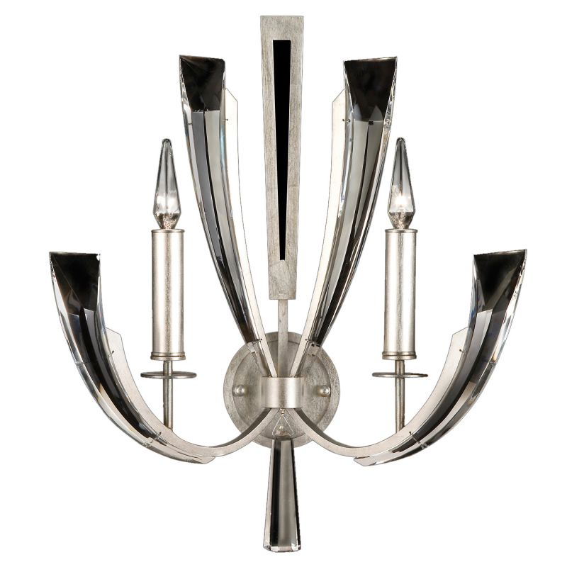 Fine Art Lamps 796850ST Vol de Cristal Two-Light Wall Sconce with
