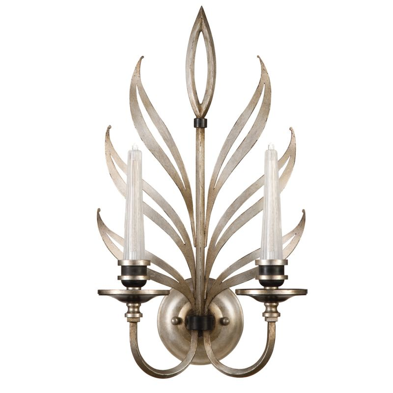 Fine Art Lamps 814650ST Villandry Silver Two-Light Wall Sconce with