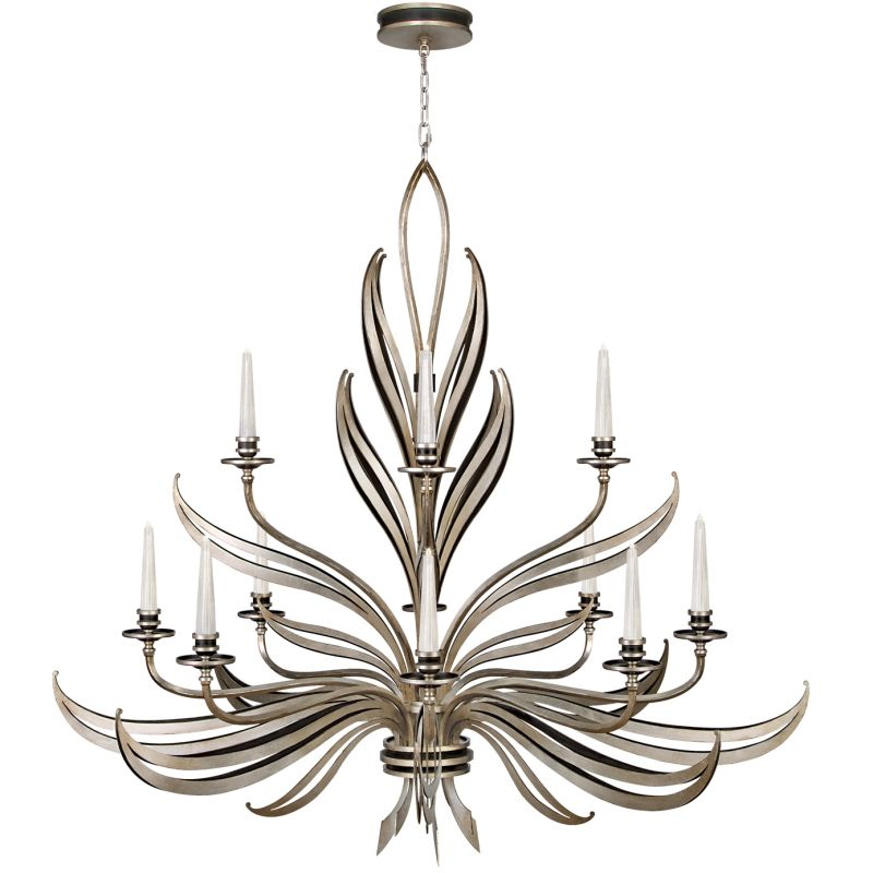Fine Art Lamps 815140ST Villandry Silver Twelve-Light Two-Tier Sale $13104.00 ITEM: bci2258903 ID#:815140ST :