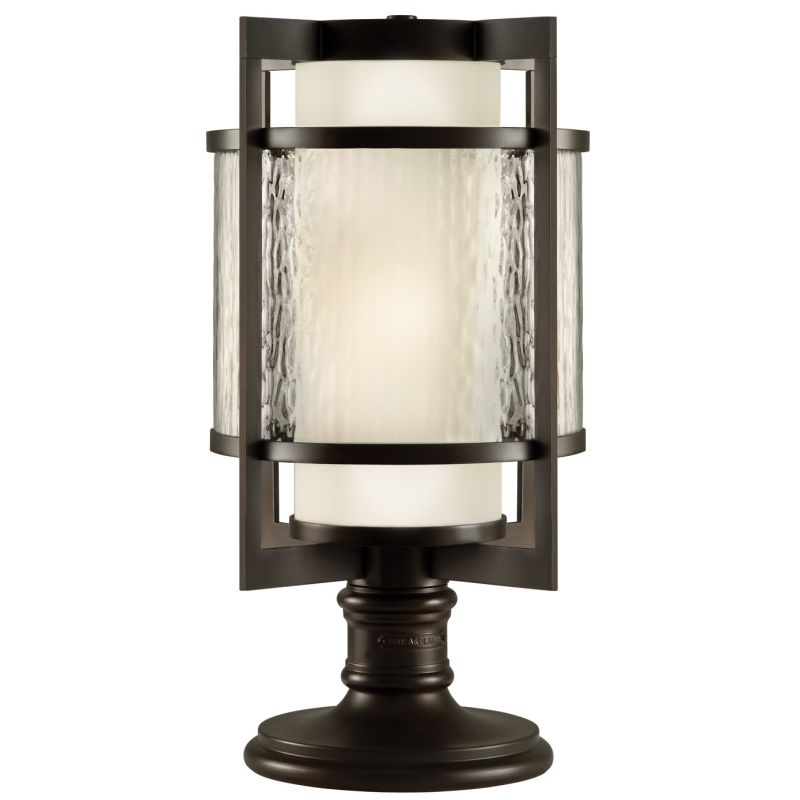 Fine Art Lamps 817583ST Singapore Moderne Outdoor Two-Light Post Light