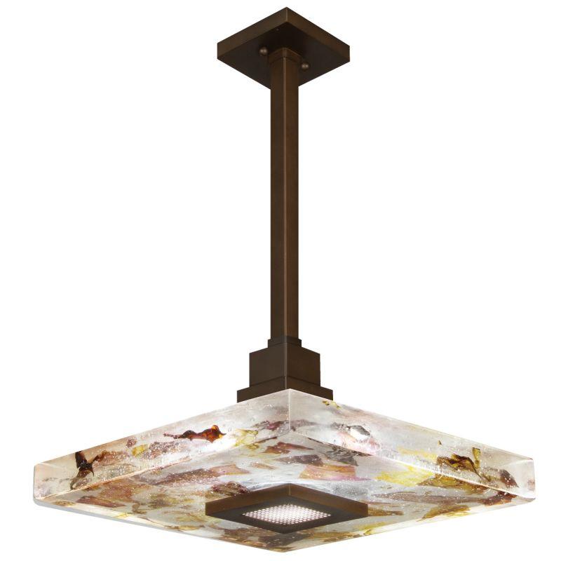 "Fine Art Lamps 818840-11ST Crystal Bakehouse 18"" Square Single-Light"