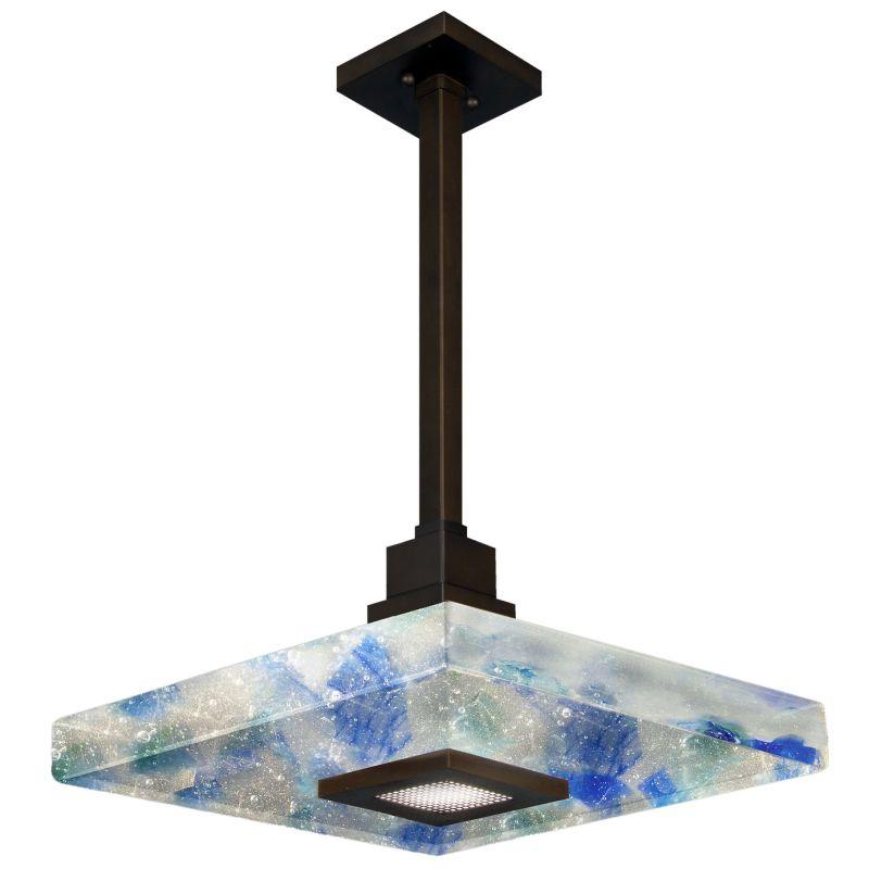 "Fine Art Lamps 818840-12ST Crystal Bakehouse 18"" Square Single-Light"