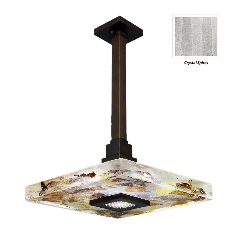"Fine Art Lamps 818840-13ST Crystal Bakehouse 18"" Square Single-Light"