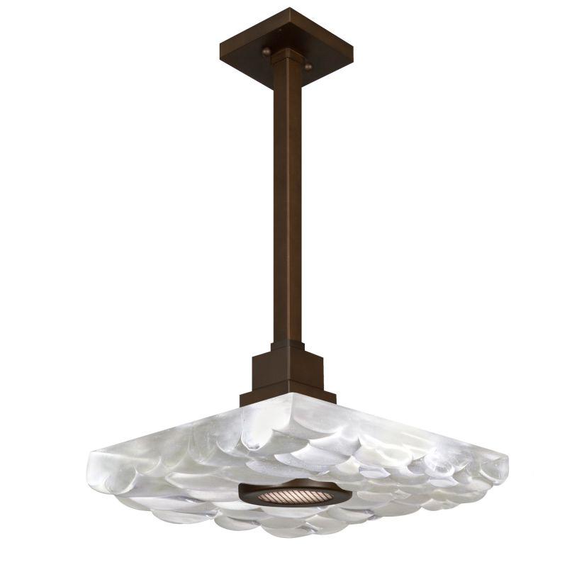 "Fine Art Lamps 818840-14ST Crystal Bakehouse 18"" Square Single-Light"