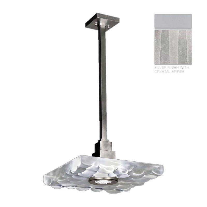 "Fine Art Lamps 818840-23ST Crystal Bakehouse 18"" Square Single-Light"