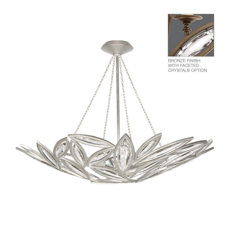 Fine Art Lamps 849440-ST Marquise 12 Light Foyer Pendant with Faceted