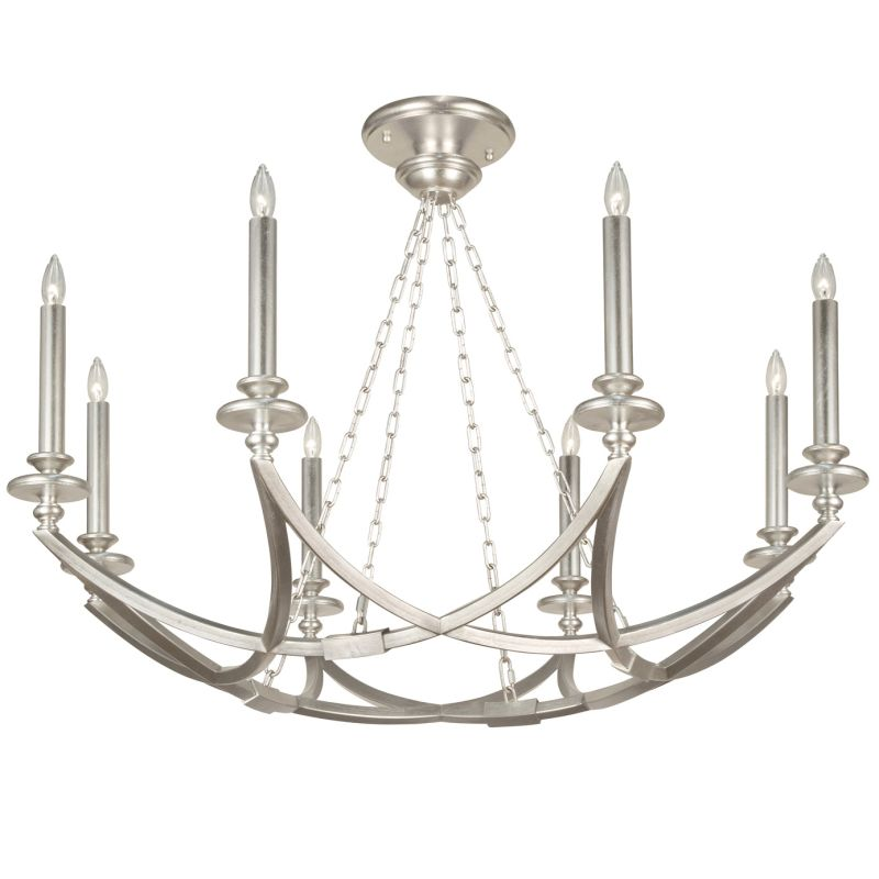 Fine Art Lamps 860240-2ST Liaison Eight-Light Foyer Pendant with Bold