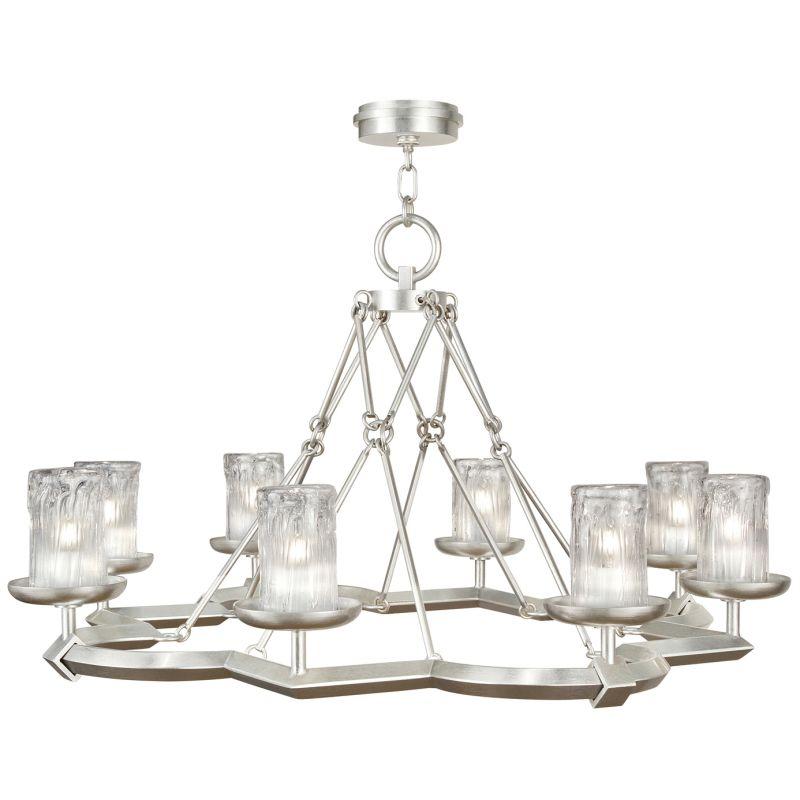 Fine Art Lamps 860340-2ST Liaison Eight-Light Foyer Pendant with Bold