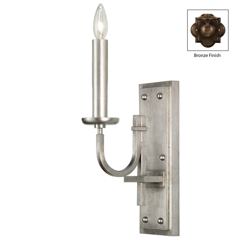 Fine Art Lamps 861050ST Liaison Single-Light Wall Sconce with Bold