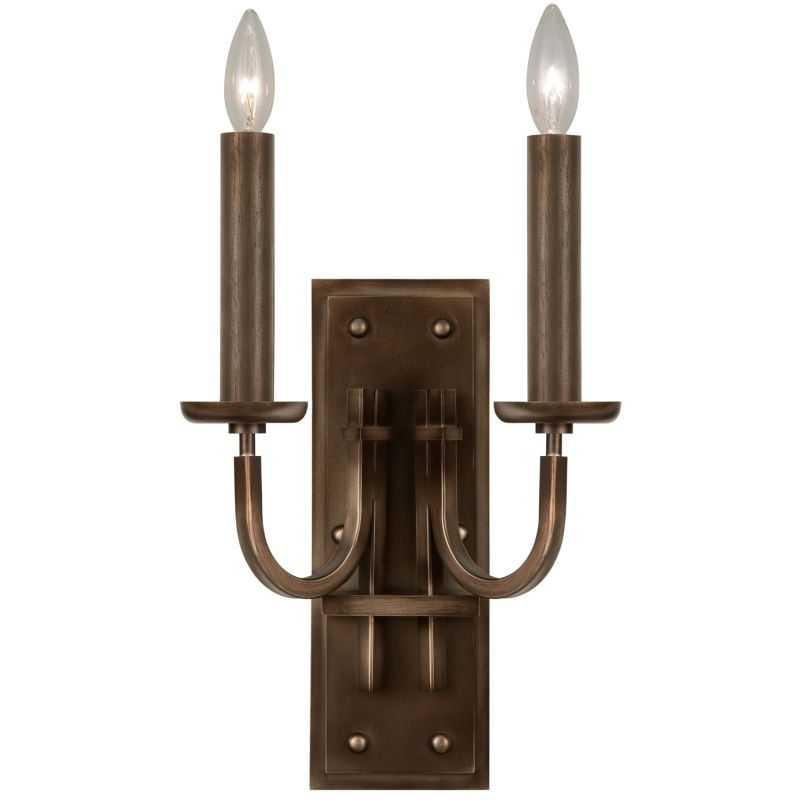 Fine Art Lamps 861150ST Liaison Two-Light Wall Sconce with Bold Metal