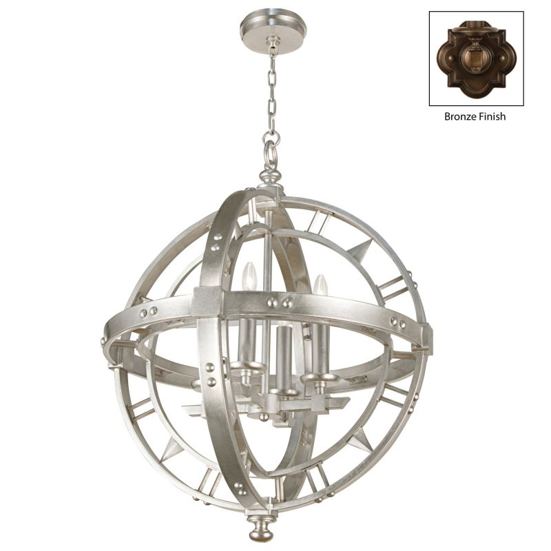 Fine Art Lamps 861240ST Liaison Four-Light Foyer Pendant with Bold