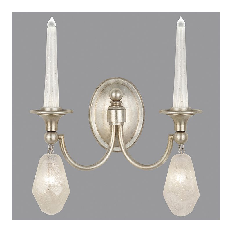 Fine Art Lamps 867650-11ST 4 Light Wall Sconce in Aged Silver Leaf