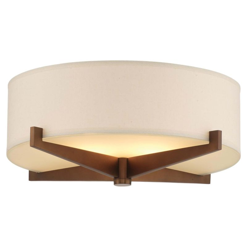 Forecast Lighting F2870 A La Carte Ivory Fabric Shade from the Fisher