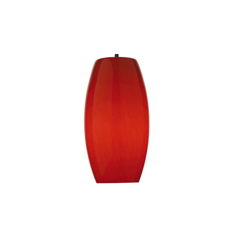 "Forecast Lighting F5153 Wishes Red - 8-1/2"" Glass Pendant Red Cirrus"