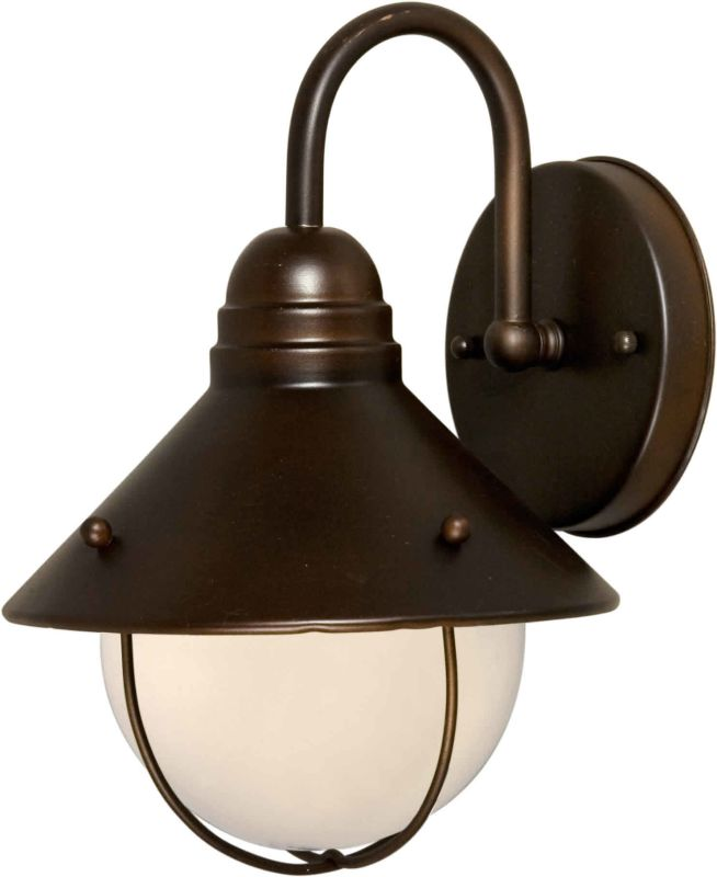 Plug In Wall Lamps Menards : Forte Lighting 1041-01-32 Antique Bronze Outdoor Wall Sconce from the Exterior Lighting ...
