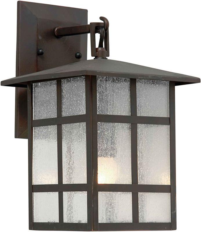 Forte Lighting 1219-01 Outdoor 8Wx16.25Hx9E Wall Sconce Antique Bronze