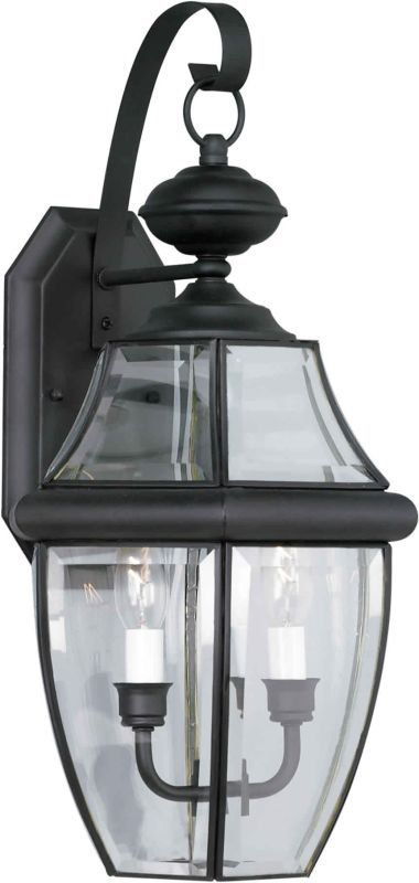 Forte Lighting 1301-02-04 Black Outdoor Wall Sconce from the Exterior Lighting Collection ...