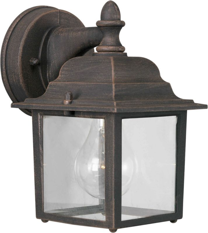 Forte Lighting 1745-01 Craftsman / Mission Outdoor Wall Sconce from