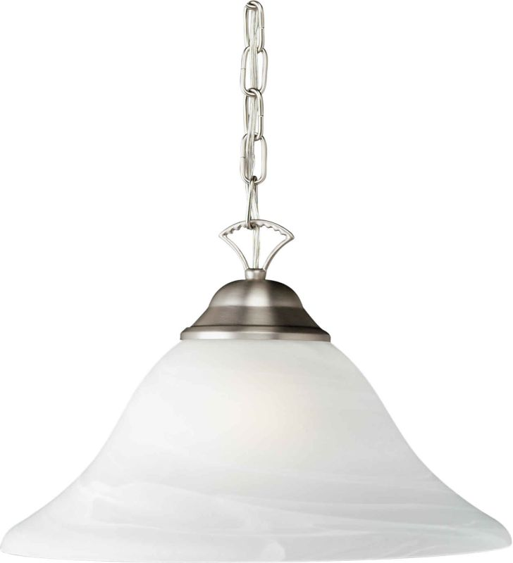 Forte Lighting 2042-01 16Wx9H Down Lighting Pendant Brushed Nickel