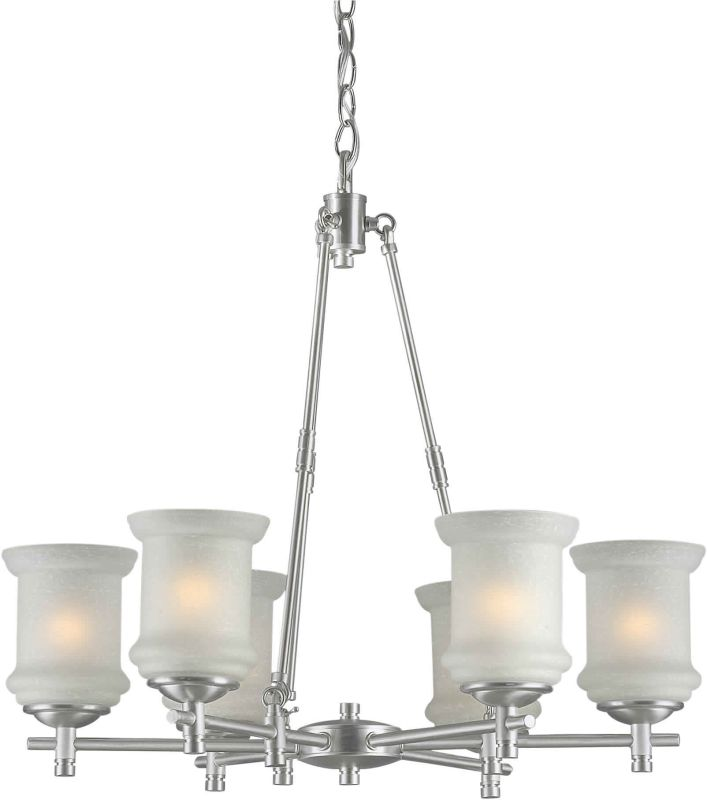 Forte Lighting 2180-06 26Wx25H 6 Light Chandelier Brushed Nickel