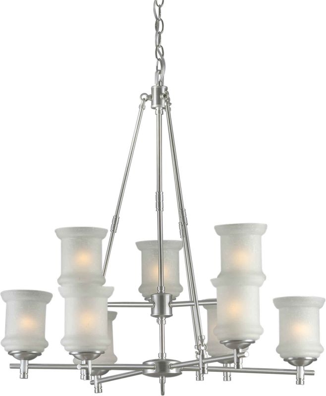Forte Lighting 2180-09 31Wx31H 9 Light Chandelier Brushed Nickel
