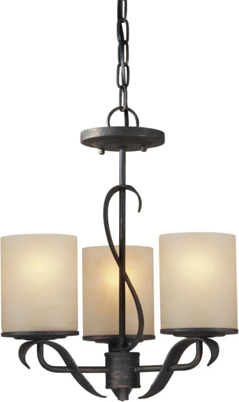 Forte Lighting 2230-03 Bordeaux 3 Light 1 Tier Mini Chandelier