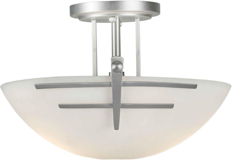 Forte Lighting 2231-02 Two Light Steel Semi-Flush Mount Ceiling Sale $108.00 ITEM: bci1065266 ID#:2231-02-55 UPC: 93185030832 :