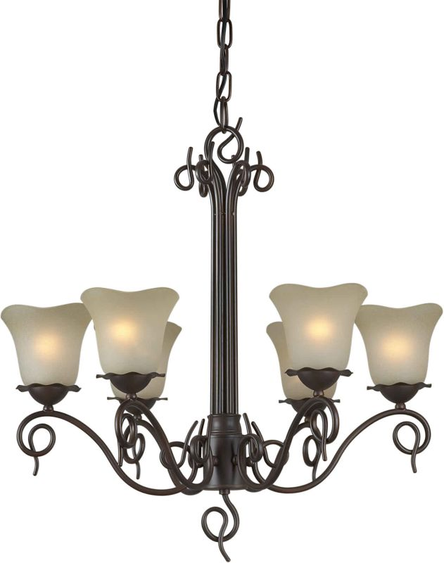 Forte Lighting 2363-06 26Wx25H 6 Light Chandelier Antique Bronze Sale $238.00 ITEM: bci1232515 ID#:2363-06-32 UPC: 93185032621 :