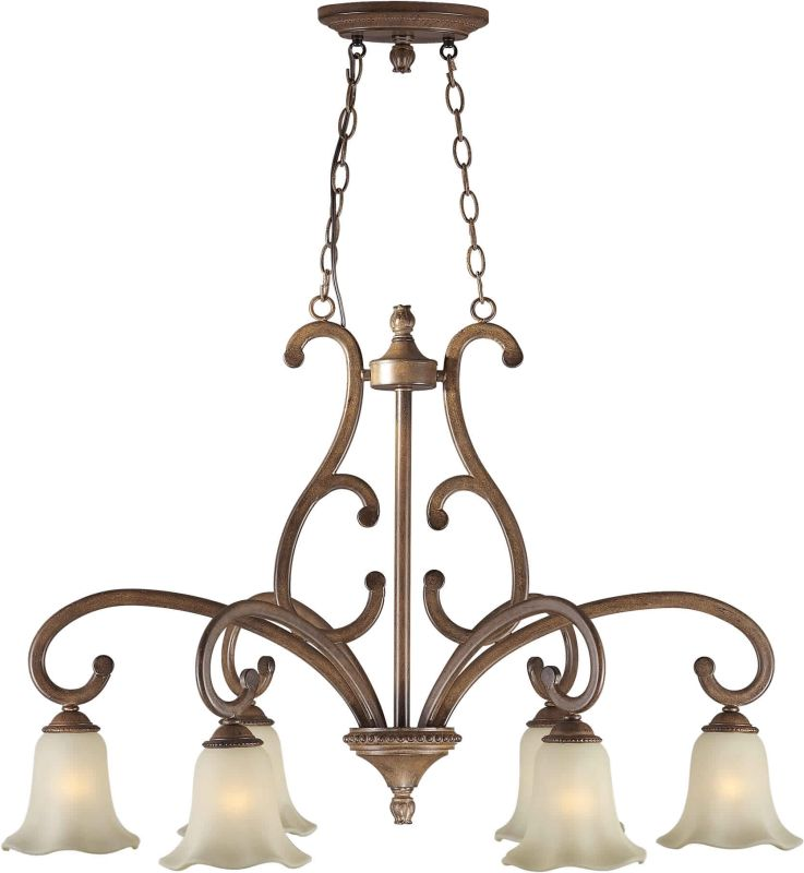 Forte Lighting 2387-06 38Lx24W 6 Light Chandelier Rustic Sienna Indoor