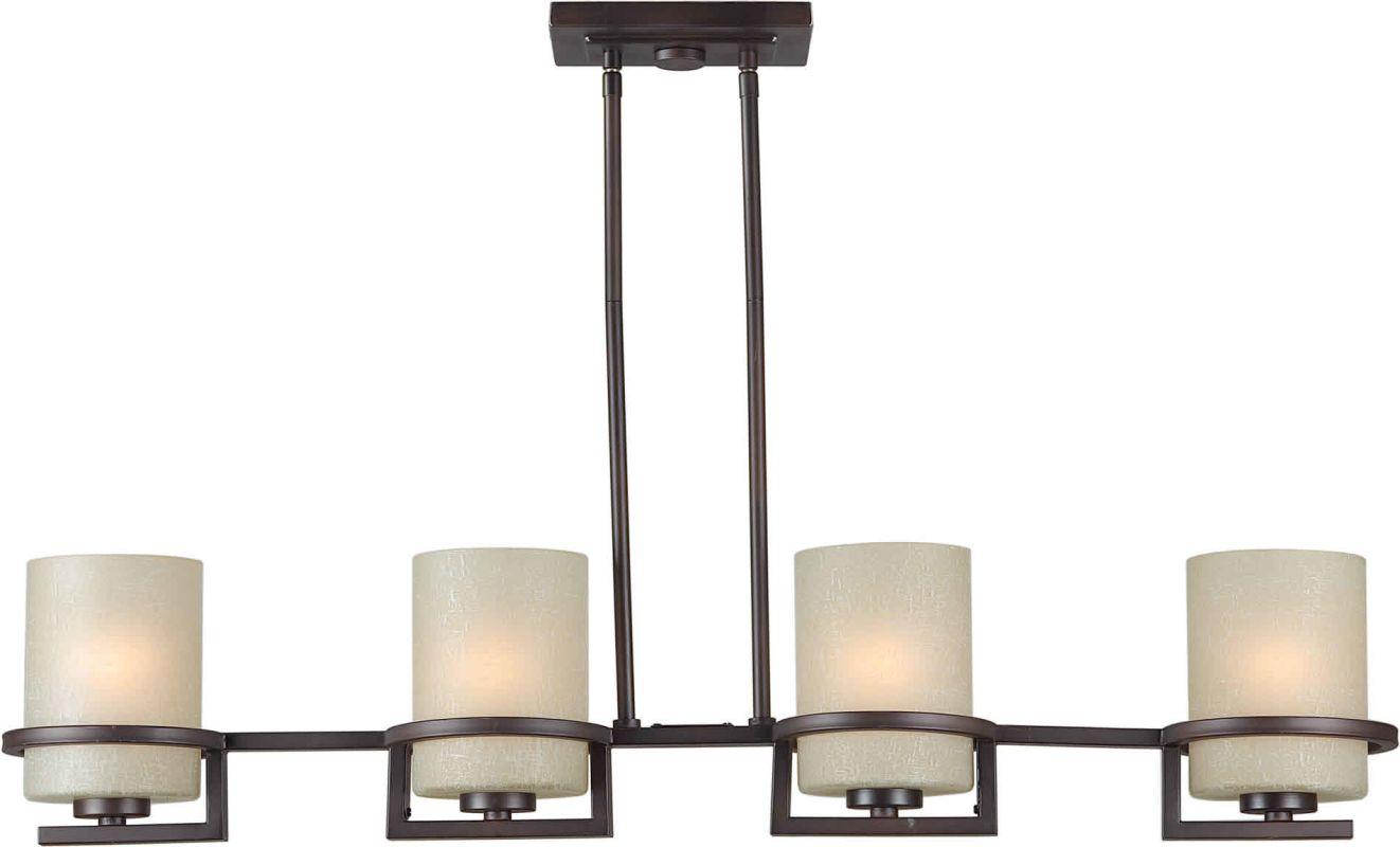 Forte Lighting 2404-04 39.5W Island Chandelier Antique Bronze Indoor