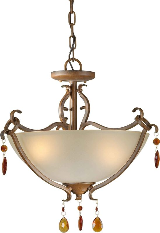 Forte Lighting 2409-03 17.75Wx16H 3 Light Pendant / Semi-Flush Ceiling Sale $174.00 ITEM: bci1232631 ID#:2409-03-41 UPC: 93185034144 :