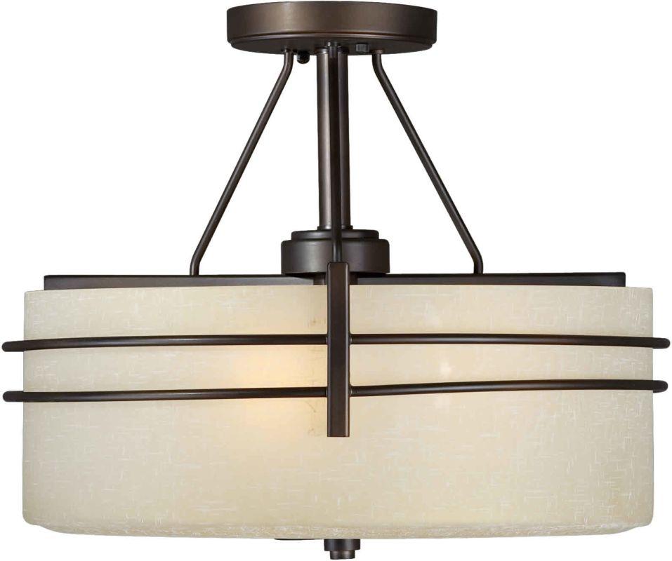 Forte Lighting 2489-03 16Wx13H 3 Light Chandelier Antique Bronze