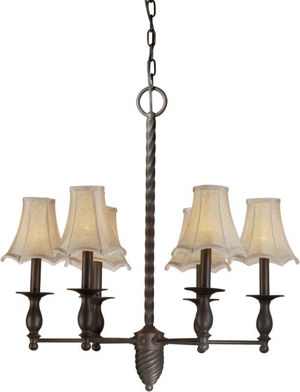 Forte Lighting 2521-06 26Wx26.5H 6 Light Chandelier Antique Bronze