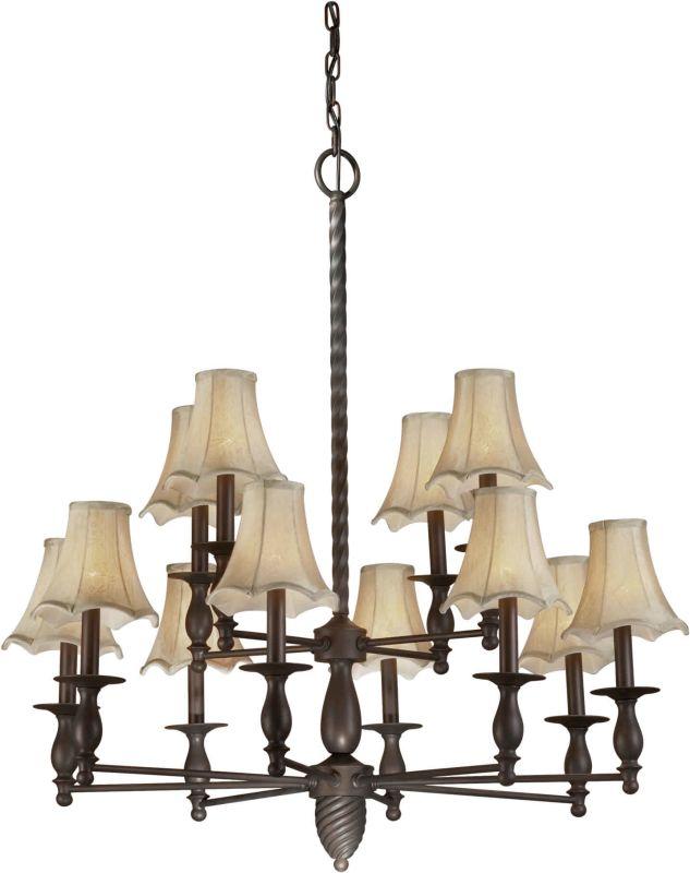 Forte Lighting 2521-12 34Wx36H 12 Light Chandelier Antique Bronze