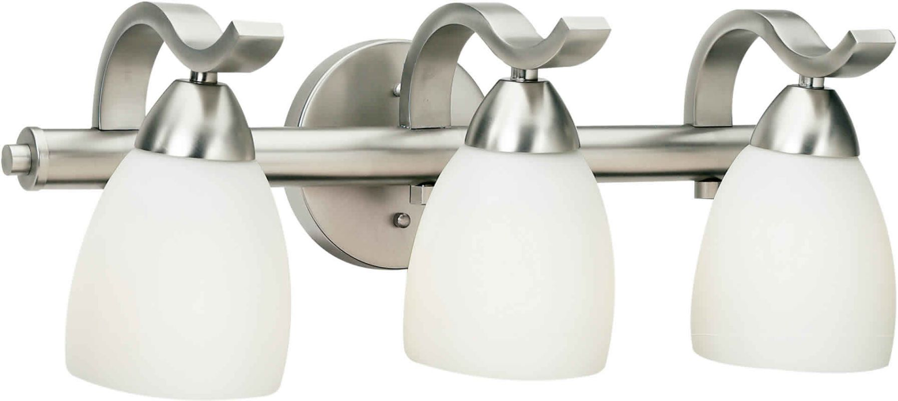 "Forte Lighting 5045-03 3 Light 19"" Wide Bathroom Fixture from the Bath"